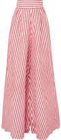 Johanna Ortiz - Tequila Striped Linen Wide-leg Pants - Red