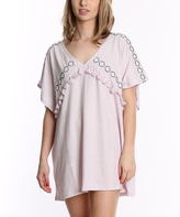Pacifica Lilac Embroidered Tassel-Accent Nightgown
