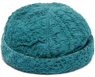 By Walid Emperor French-crochet Cotton Hat - Blue