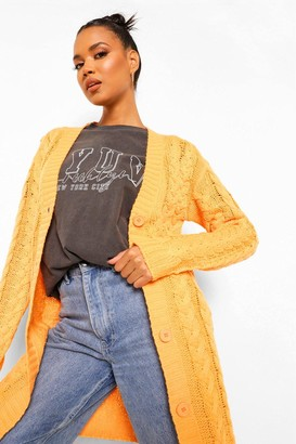 boohoo Cable Knit Chunky Cardigan