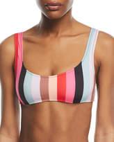 Solid and Striped The Elle Malibu Striped Swim Top