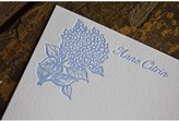 The Well Appointed House Hydrangea Personalized Letterpress Note Cards