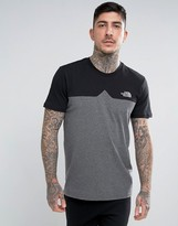 The North Face Westpeak T-shirt Colour Block And Chest Logo In Black