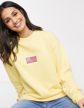 Daisy Street relaxed sweatshirt with los angeles embroidery