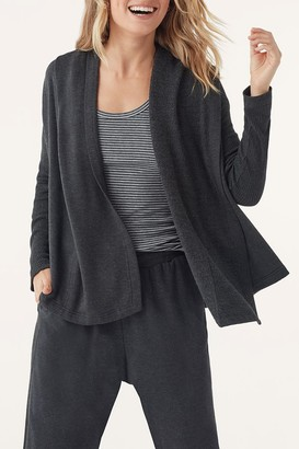 Splendid Heathered Hooded Cardigan