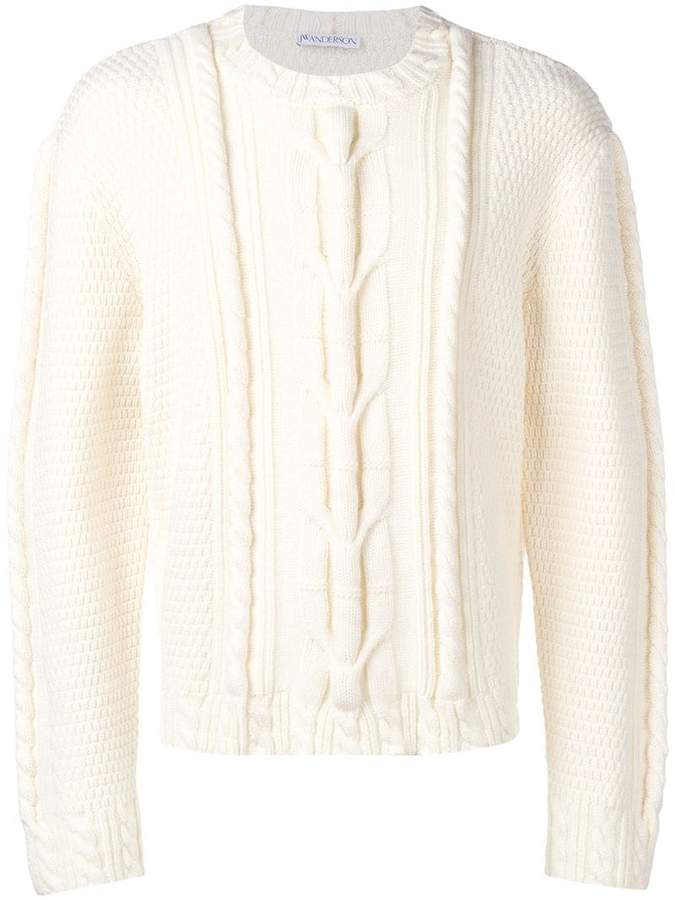 J.W.Anderson cable knit crew neck jumper