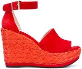 Stuart Weitzman Soho wedge sandals - women - Suede/rubber/Leather - 35