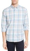 Nordstrom Men's Slim Fit Washed Plaid Sport Shirt