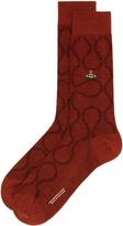Vivienne Westwood Squiggle Socks Russet Size M