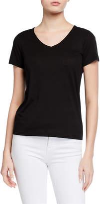 Vince Short-Sleeve Linen-Blend T-Shirt