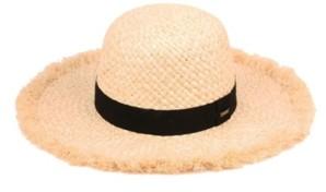 Epoch Hats Company Angela & William Raffia Straw Raw Edge Floppy Hat