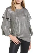 Bardot Women's Milly Ruffle Metallic Top