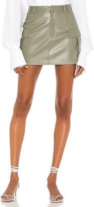 Aya Muse Vegan Leather Cargo Mini Skirt
