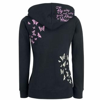 jieGorge Woman Blouse Womens Zipper Long Sleeve Skull Print Hoodie Sweatshirt Tops Sweatshirt Coat
