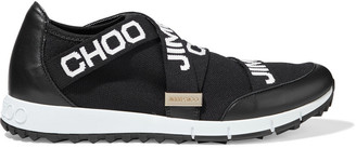 Jimmy Choo Toronto Leather And Stretch-knit Slip-on Sneakers
