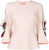 Roksanda flared bow-sleeve blouse - women - Silk/Polyester/Spandex/Elastane - 6