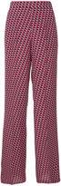 Etro geo print palazzo pants - women - Silk - 42