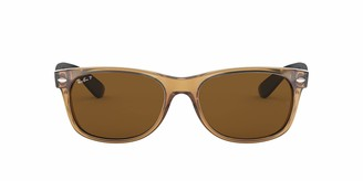 Ray-Ban Men's New Wayfarer Polarized Square Sunglasses