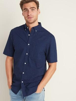 Old Navy Slim-Fit Built-In Flex Neps-Textured Poplin Shirt for Men