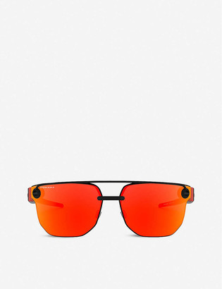 Oakley OO4136 67 Chrystl stainless-steel and nylon rectangle-frame sunglasses