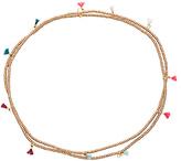 Shashi Lilu Wrap Necklace in Metallic Gold.