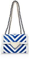 Sara Battaglia Elizabeth Color Block Small Leather Shoulder Bag