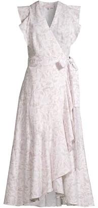 Rebecca Taylor Zadie Wrap Midi Silk Dress