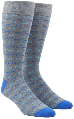 The Tie Bar Turquoise Bow Tie Socks