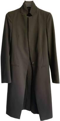 AllSaints Black Cotton Coat for Women