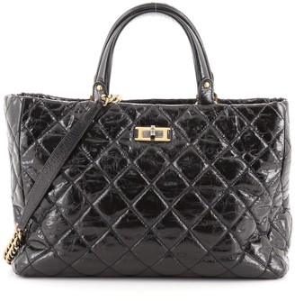 Chanel Reissue Shopping Tote Quilted Glazed Calfskin Large