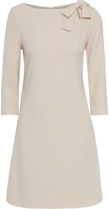 Goat Emma Bow-embellished Wool-crepe Mini Dress