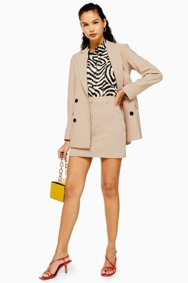 Topshop Womens Stone Mini Skirt - Stone