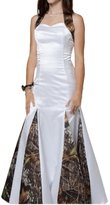 Gorgeous Bridal 2016 Mermaid Halter Wedding Party Gown with Camouflage Print- US
