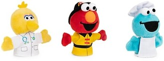 Gund Sesame Street People In Your Neighborhood Finger Puppets 3-Piece Plush Stuffed Animal Set