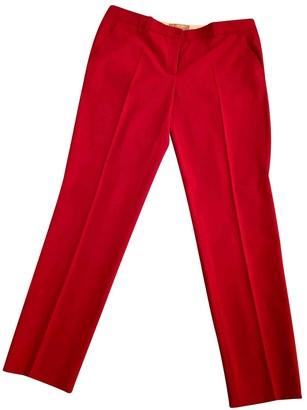 Michael Kors Red Wool Trousers