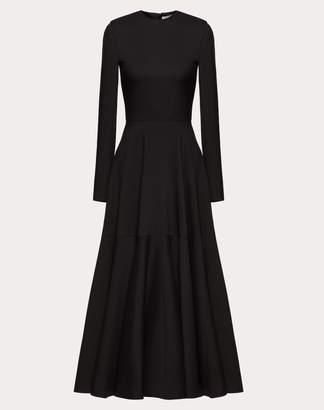 Valentino Crepe Couture Dress Women Black Virgin Wool 65%, Silk 35% 42