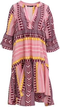 Devotion Zakar Pink Yellow Short Dress - S