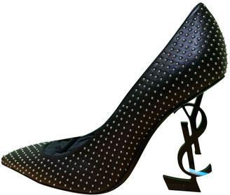 Saint Laurent Opyum Black Leather Heels