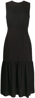 Theory Midi Flared Dress