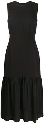 Theory Midi Flared Dress