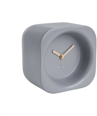 Karlsson Chunky Poly Resin Alarm Clock - Mouse Grey