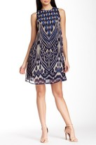 Taylor 5429M Abstract Print Shift Dress