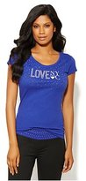 New York & Co. Love, NY&C Collection - Studded Logo Tee