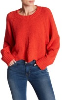 Cotton Emporium Scalloped Hem Cropped Sweater