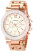 Vernier Women's VNR2364RS Enamel Look Bracelet Quartz Watch
