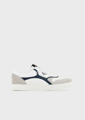 Emporio Armani Sneakers With Contrasting Suede Inserts
