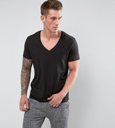 G Star T-Shirt With V-Neck In 2 Pack Black