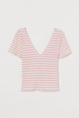 H&M Ribbed T-shirt
