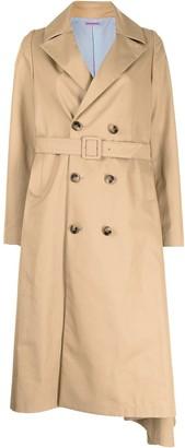 Undercover Asymmetric-Hem Trench Coat
