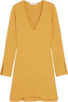 See by Chloe Stretch-crepe Mini Dress - Mustard